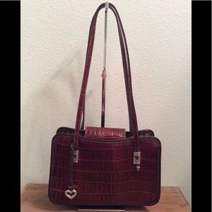 Brighton cognac and dark brown leather purse.